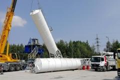 Montáž betonárny ELBA - zvedán sil
