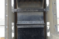 Oprava dopravního pásu elevátoru a korečků